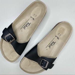 TULA by BIRKENSTOCK Madrid Black Slide Sandals
